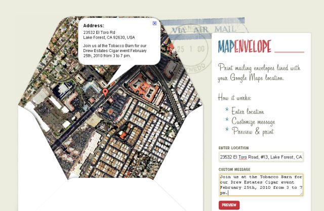 Use MapEnvelope.com to make your invitation stand out from the rest!