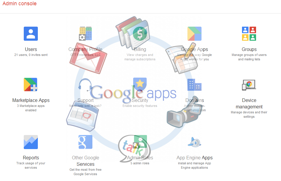 Google Apps, setup, customization and support