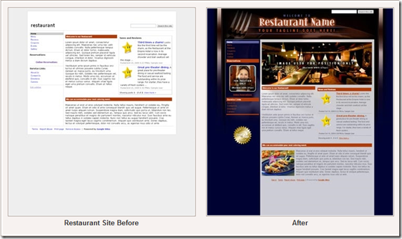 Before and after templates by Over The Top Sites