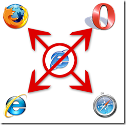Check out this fun anti-IE6 logo from Mixth.net